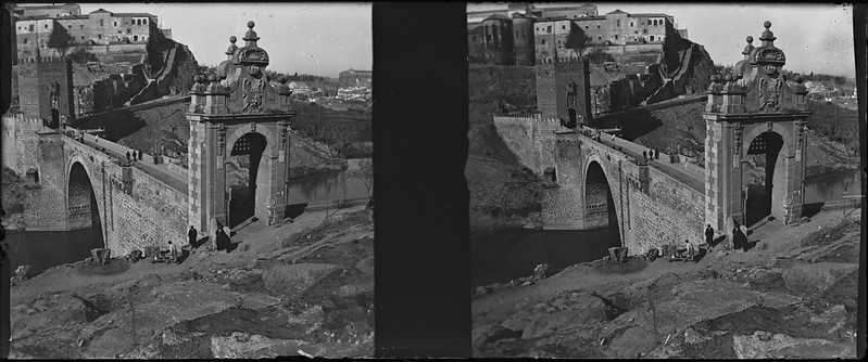 Puente de Alcántara de Toledo el 24 de febrero de 1918. Fotografía de Carles Batlle Ensesa © Ajuntament de Girona. CRDI (Carles Batlle Ensesa)