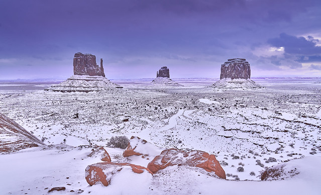Monument Valley snow covered
