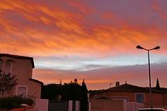 France, le lever du Soleil ce matin sur la Clape Narbonne - Photo of Fleury