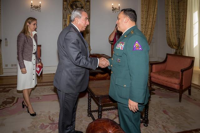 19.03. Secretário Executivo recebe Brigadeiro-General César Augusto Parra León