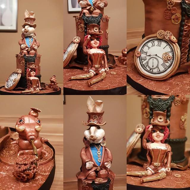 Steampunkcake Alice in Wonderland by Patricia Trematerra