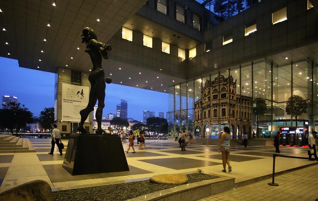 Strolling thru the Financial hub of Singapore