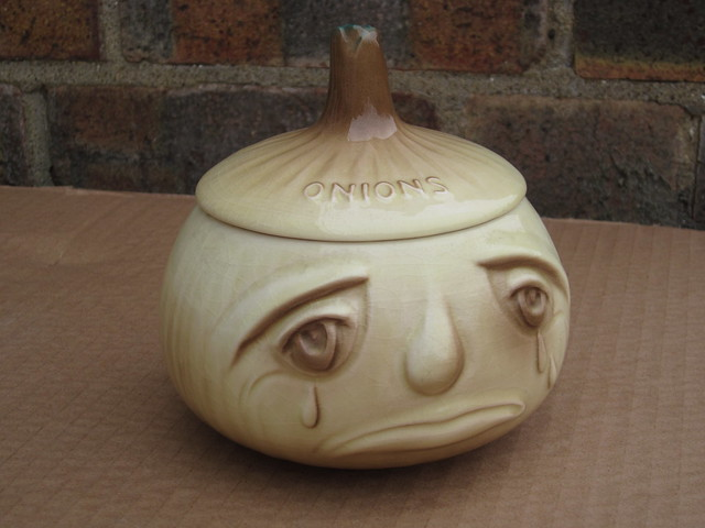 Vintage 1970's Kitsch Sylvac Crying Onions Facepot Kitchenalia
