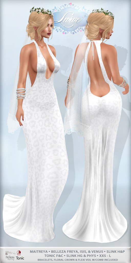 *Lurve* Wild Beauty Gown in Wedding White - TeleportHub.com Live!