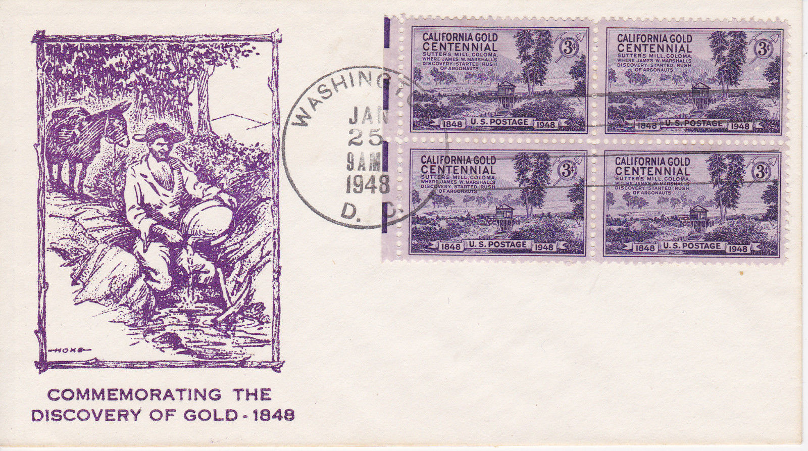United States - Scott #954 (1948) first day cover