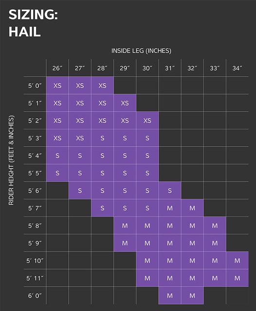 Liv Hail MTB Size Chart
