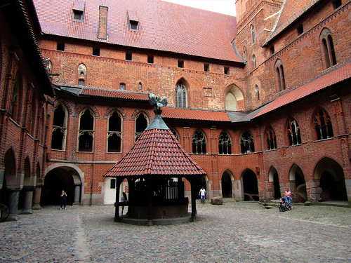 Courtyard in Malbork Castle in Poland