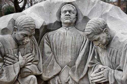 'Three Ministers Kneeling' by Sculptor Raymond Kaskey -- Kelly Ingram Park Birmingham (AL) February 2019