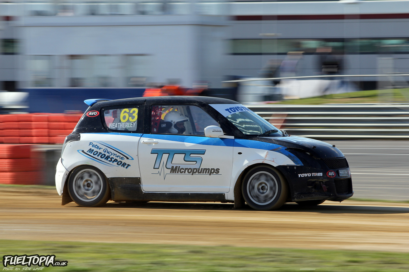 Max Weatherley Suzuki Swift BRX British Rallycross Championship 2019 Steve White Fueltopia