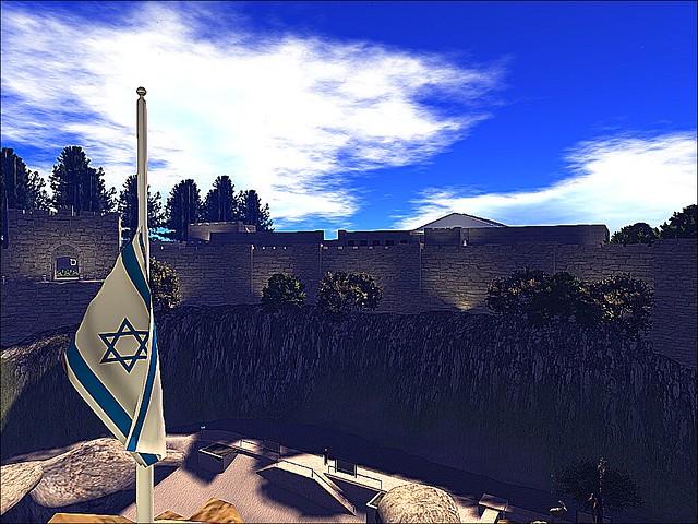 Israel Second Life -Jerusalem Wall Revisited