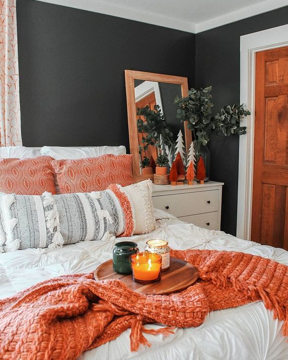 Charcoal Bedroom Paint Living Coral Bedding How to Decorate with Living Coral Pantone's Color of the Year