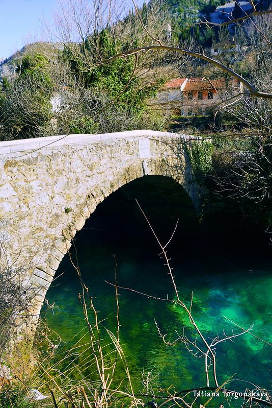Пейзаж с мостом Сары Кашикович