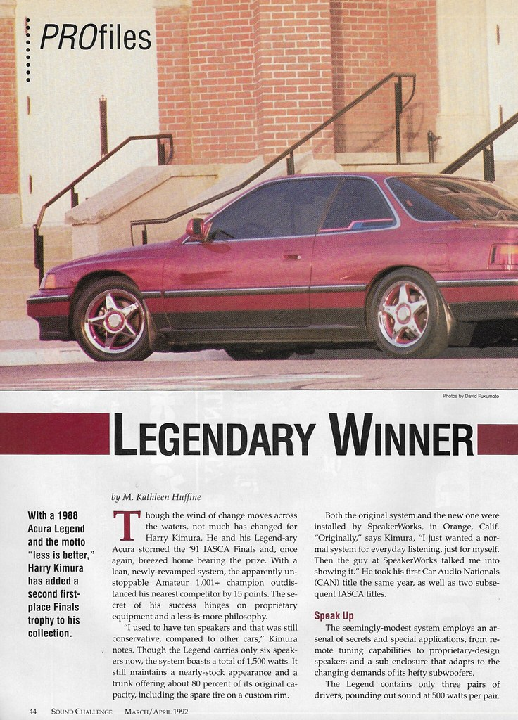 Harry Kimura - 1988 Acura Legend - 1992 Sound Challenge
