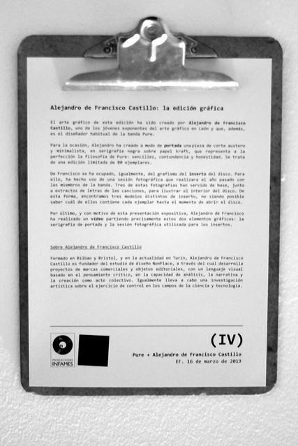 PI PRESENTA (IV) PURE & ALEJANDRO DE FRANCISCO CASTILLO EN EF 16.3.19
