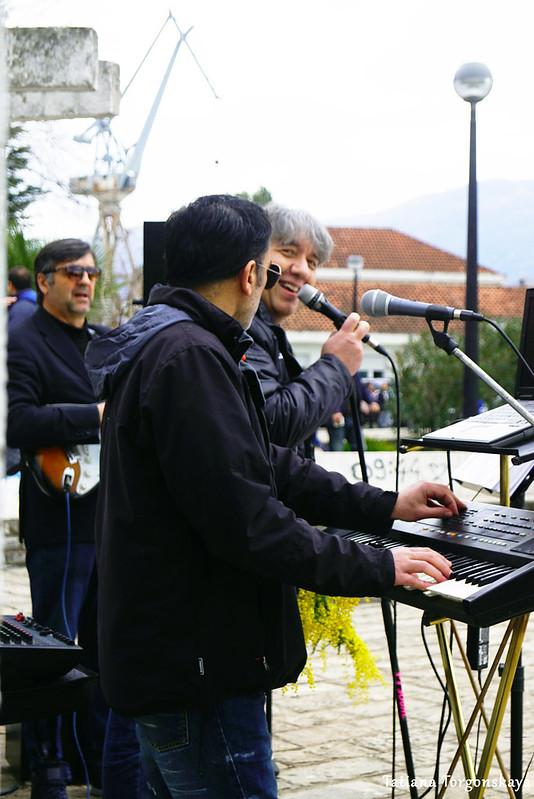 Музыканты на фестивале