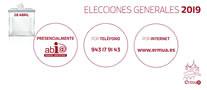 Cartel anunciador para visualizar nuestros datos en el censo electoral