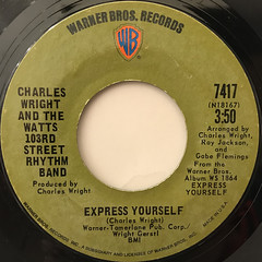 CHARLES WRIGHT AND THE WATTS 103RD STREET RHYTHM BAND:EXPRESS YOURSELF(LABEL SIDE-A)