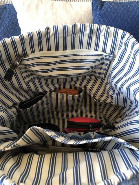 Sac à dos en jean recyclé - intérieur (face avant)