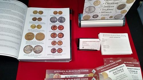 Stephen Album table 2019-03 Whitman Coin Expo