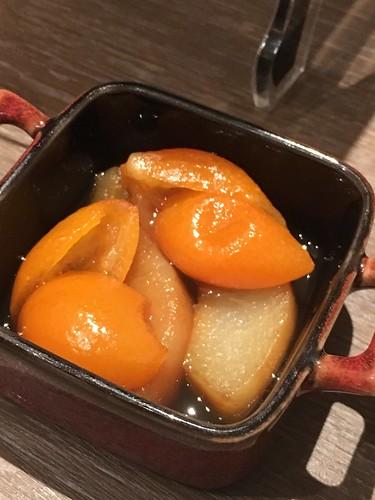 洋梨と金柑のアールグレイコンポート