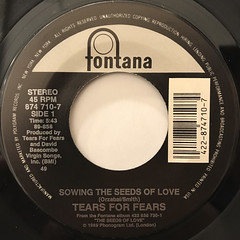 TEARS FOR FEARS:SOWING THE SEEDS OF LOVE(LABEL SIDE-A)