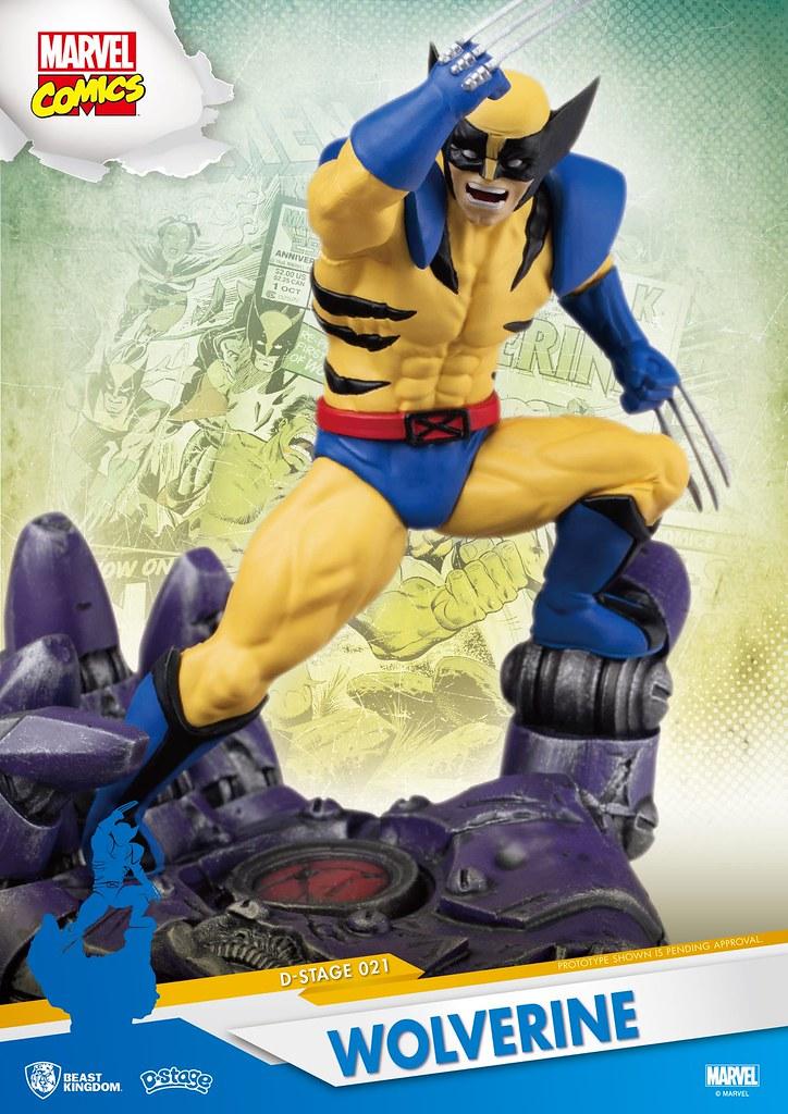 野獸國 夢-精選 系列 Marvel Comics【金鋼狼】Wolverine D-Select-021 全身場景雕像作品