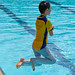 Ethan's gold level swimming exam