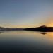 Calm Okanagan Lake on an early spring night