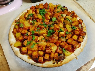 BBQ Pineapple Pizza