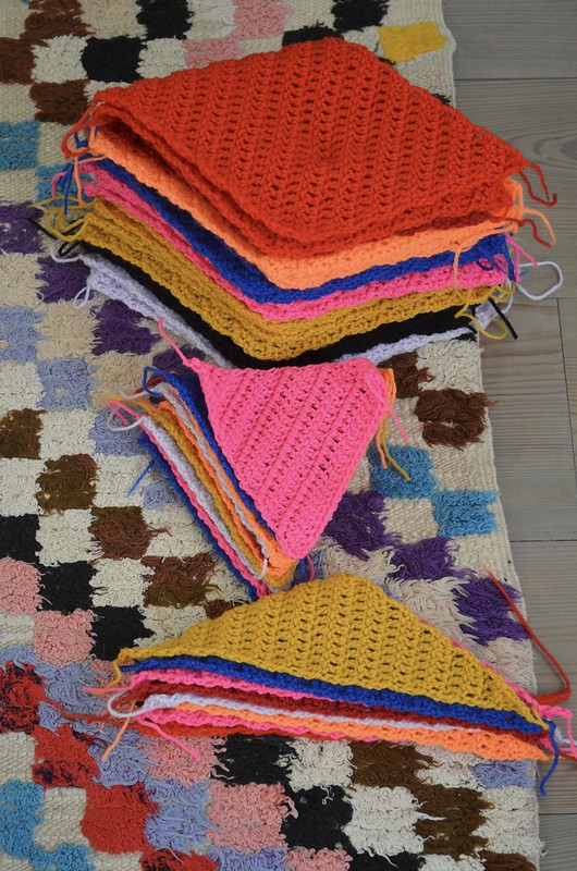 woodwoolstool harlequin blanket