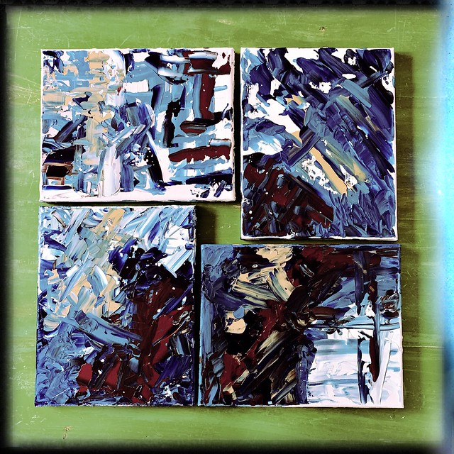 Abstract Acrylic Palette Knife Painting