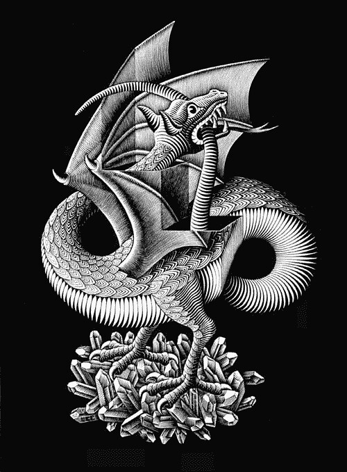 Эшер_dragon1