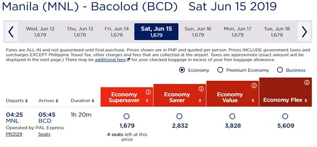 Philippine Airlines Manila to Bacolod Promo