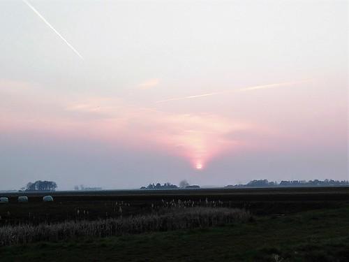 Evening sun over Drenthe