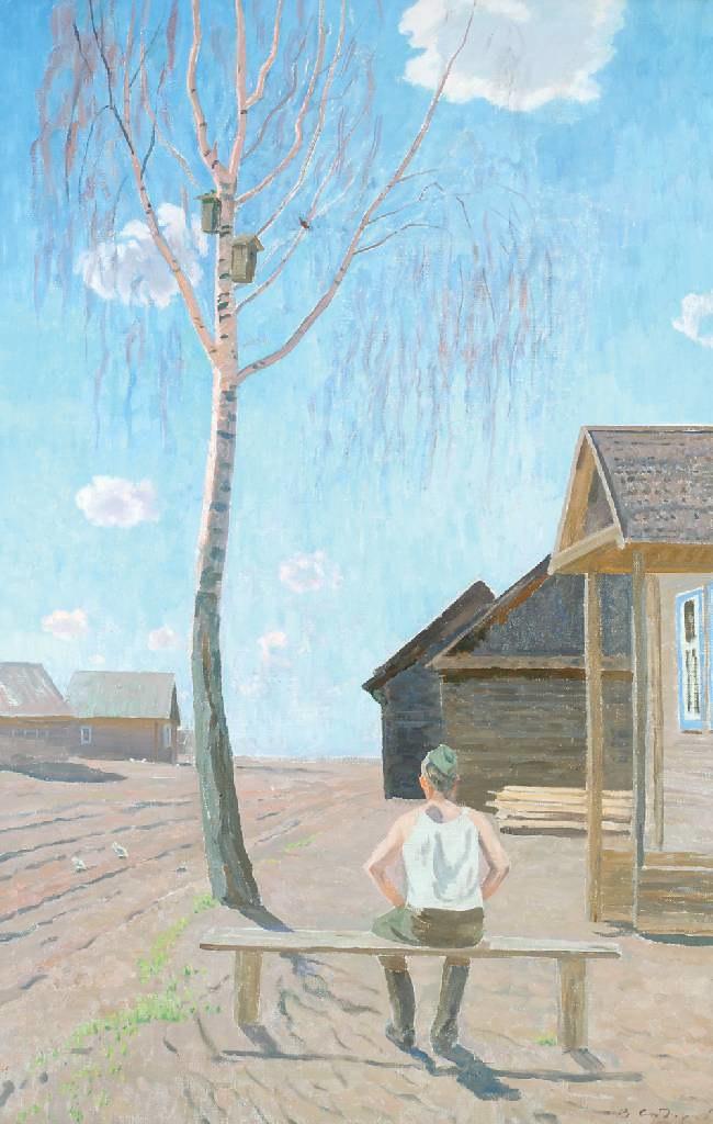 Валентин Сидоров «Апрель. Песня скворца», 1964 г. — Картинотерапия для всех  желающих