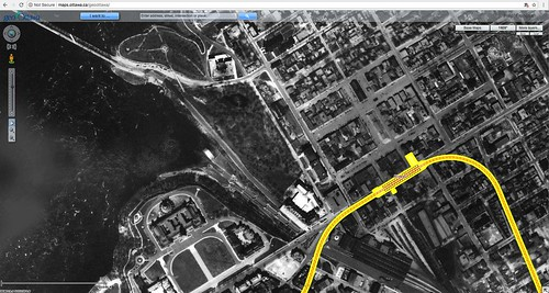 GeoOttawa Alexandra Bridge rail lines 1928 and Confederation Line 1