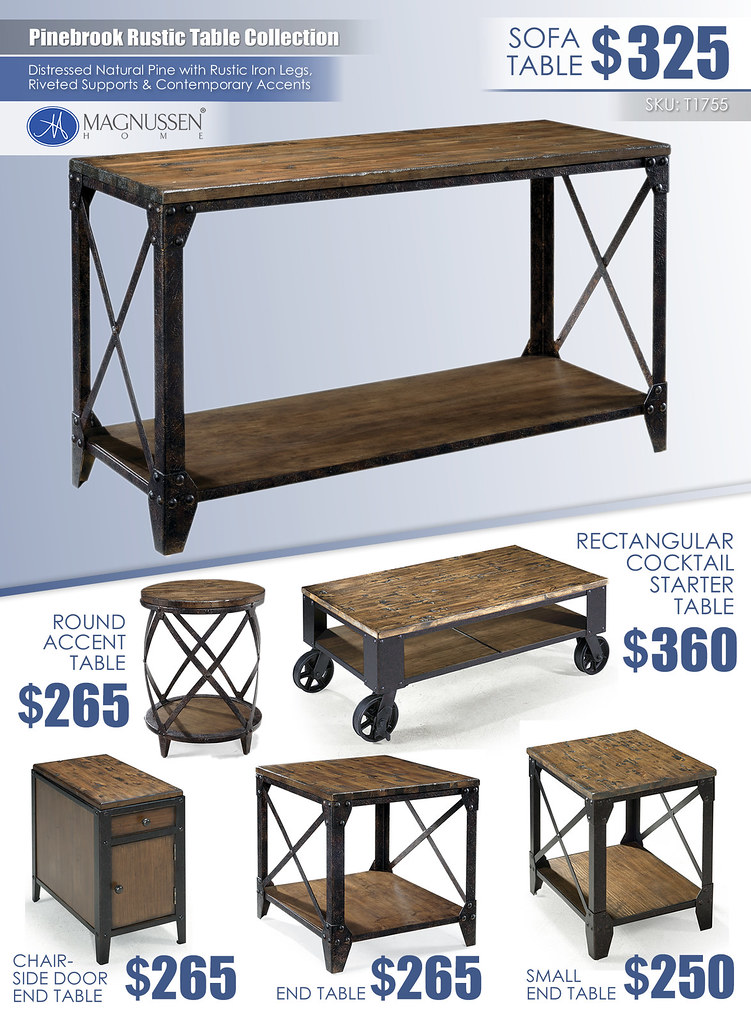Pinebrook Rustic Table Collection_T1755