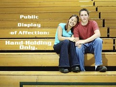 Camp Rule:  Public Display of Affection - handholding only