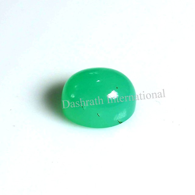 natural chrysoprase oval cabochon gemstone