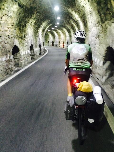 JP in tunnel up Stelvio