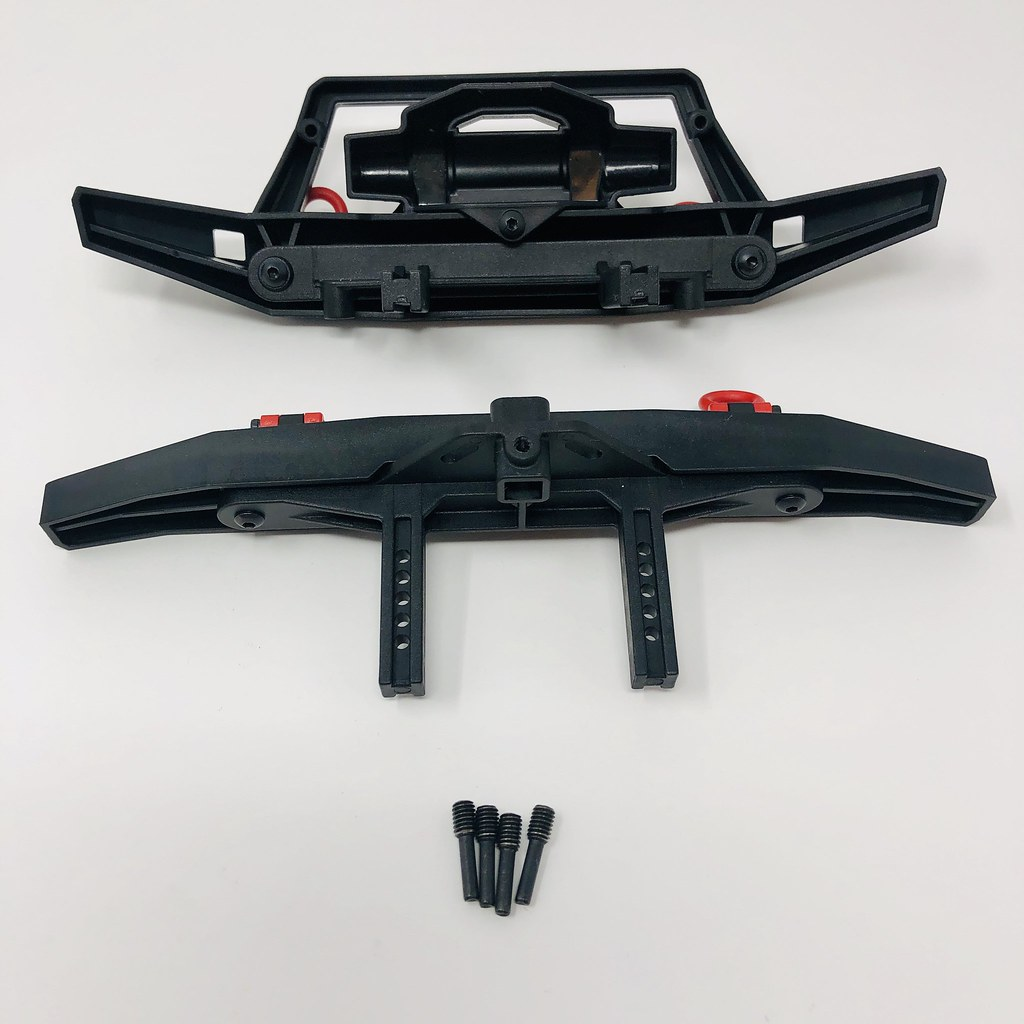 Traxxas 8067X TRX-4 Sport Front /& Rear Offset Bumper Mounts