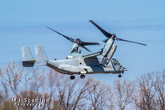 166386 USMC | Bell/Boeing MV-22B Osprey | Millington-Memphis Airport