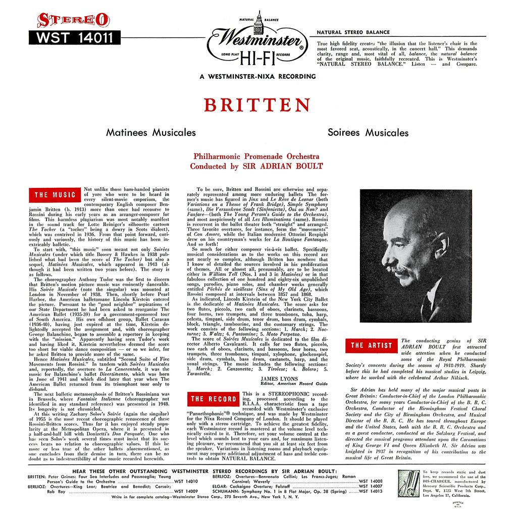 Benjamin Britten - Matinees Musicales