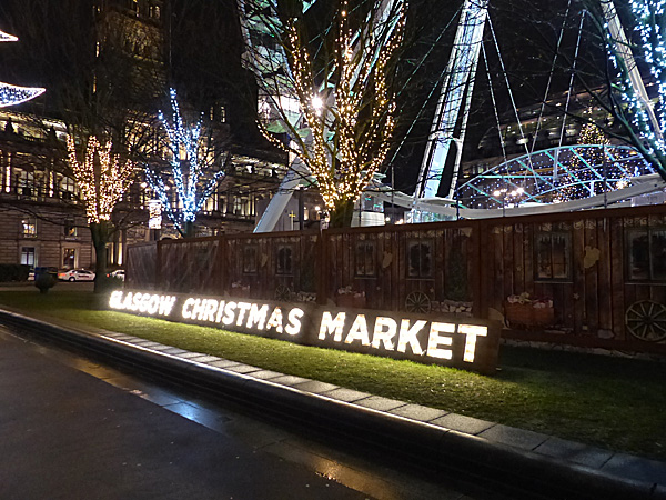 glasgow christmas market sign