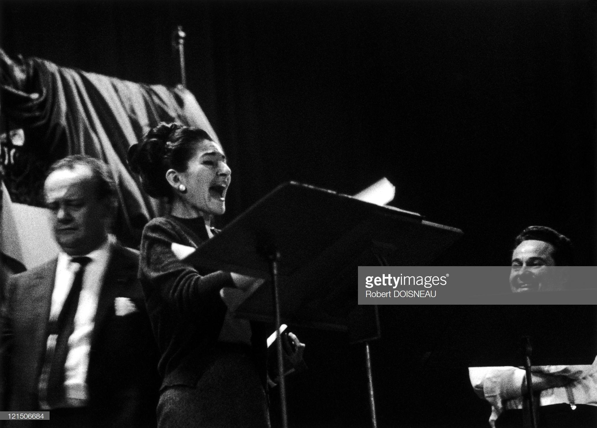 1964. Мария Каллас. Концертный зал Ваграм, запись «Тоски» Пуччини