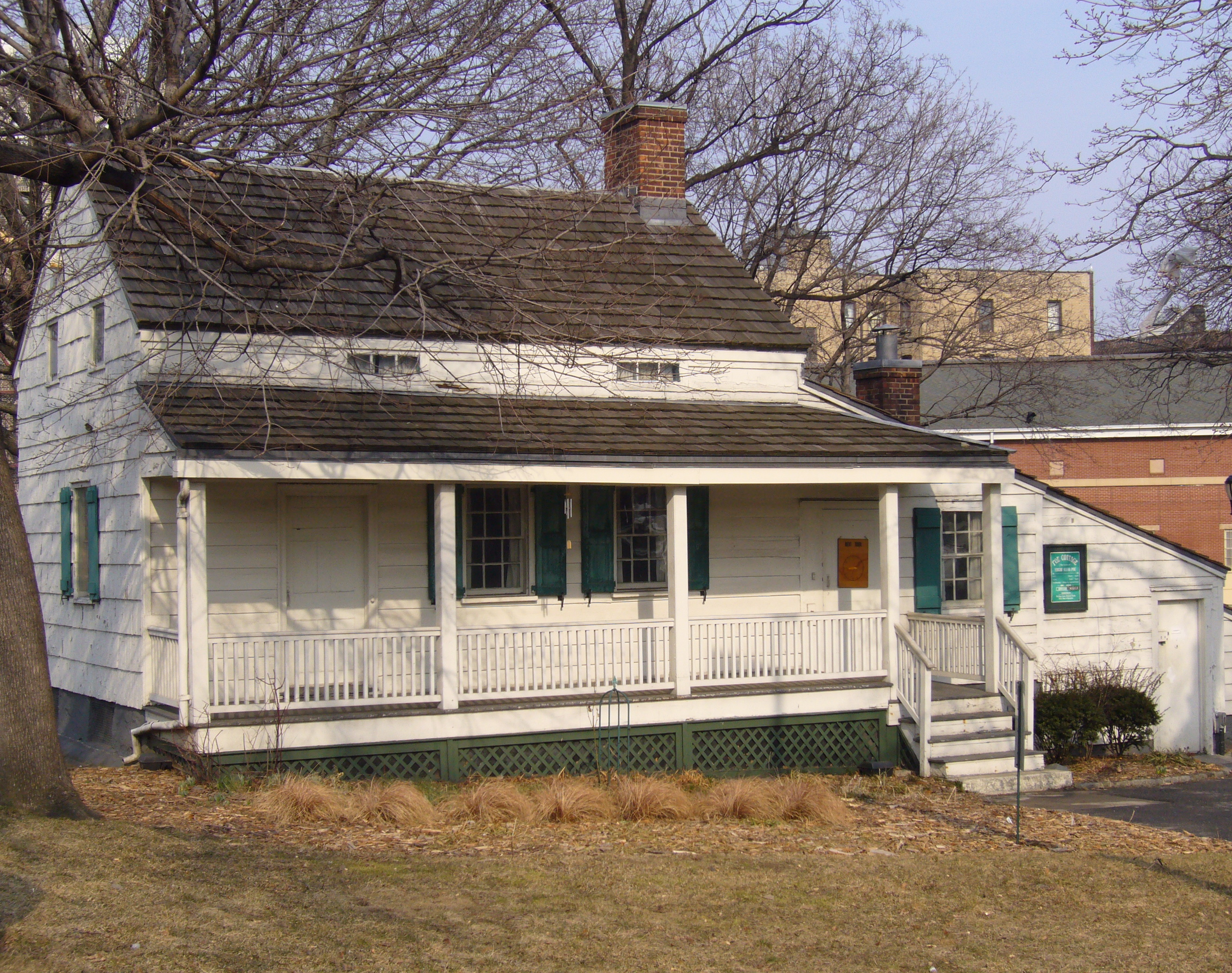 Cottage in Fordham (now a neighborhood in the Bronx) where Edgar Allan Poe spent his last years. Photo taken by <a href=