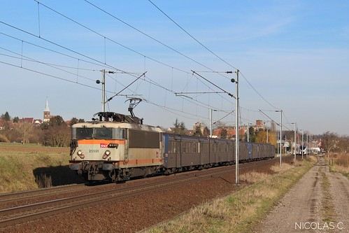 BB25591 + RRR n°222 + 302 - AR140 - Train n°830120 Strasbourg-Ville > Saverne