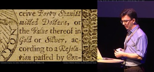 Banknote Typography study Colonial note