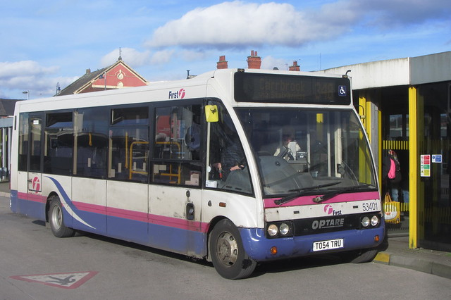 Optare Solo TO54 TRU, First Greater Manchester, Ashton-under-Lyne