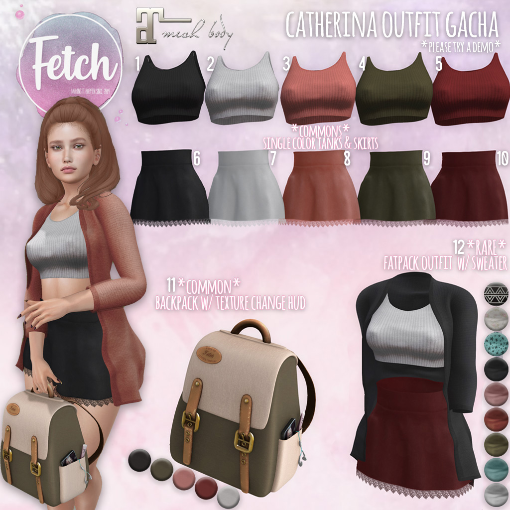 [Fetch] Catherina Outfit Gacha @ The Arcade!